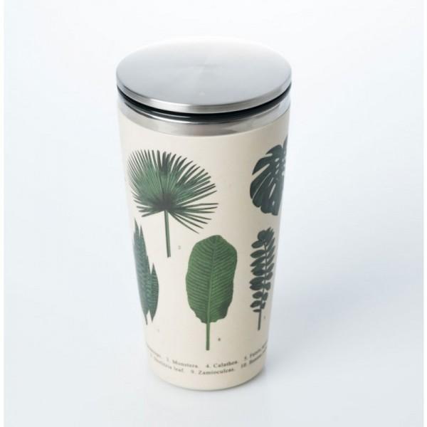 SlideCup Coffee to go Becher 420ml aus Edelstahl und Bambusfasern