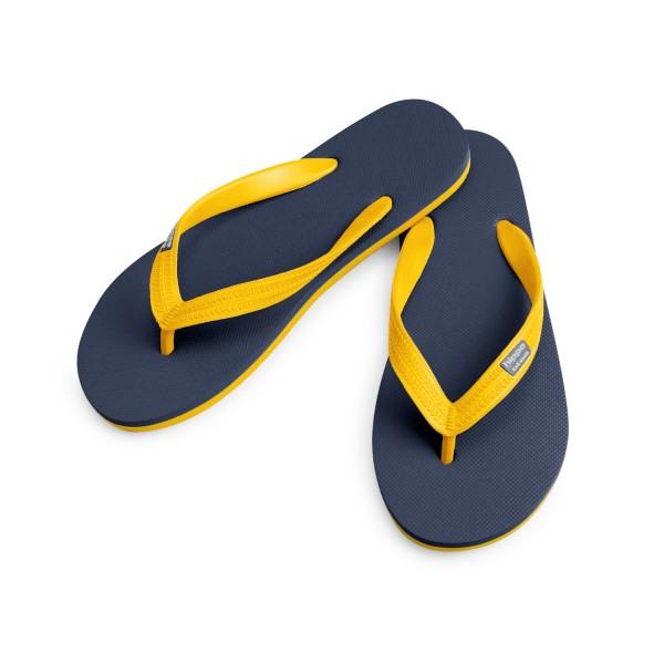 Hippobloo Flip Flop navy-gelb aus Naturkautschuk BPAfrei vegan
