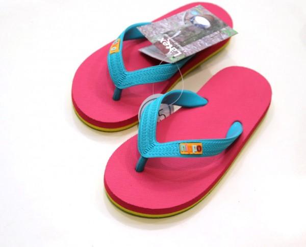 Hippobloo Flip Flop für Kinder pink türkis aus Naturkautschuk BPAfrei vegan Hippo Bloo