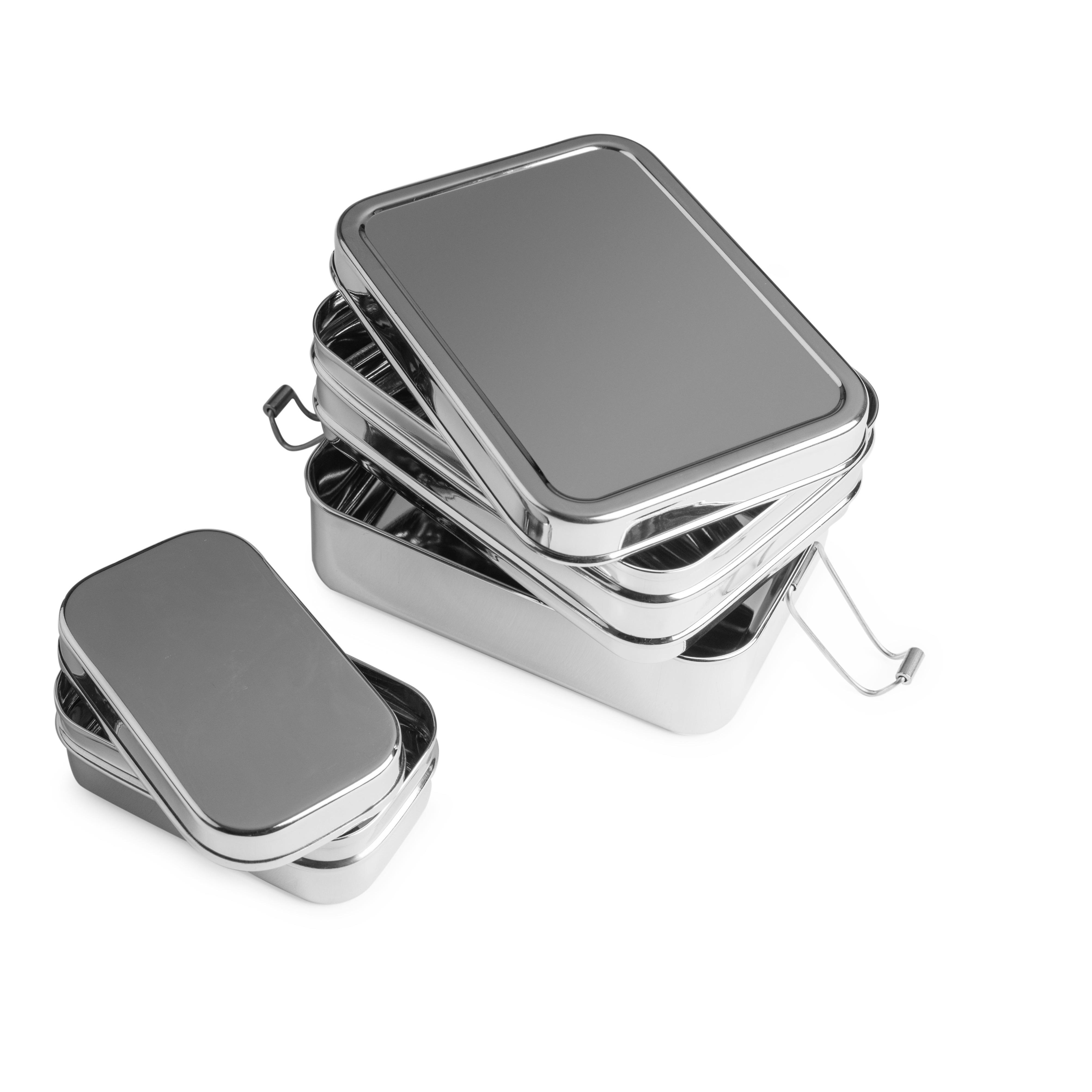 brotzeit lunchboxen 3in1 big three in one brotdose jausenbox aus edelstahl 100 bpa frei fest. Black Bedroom Furniture Sets. Home Design Ideas