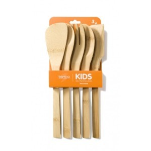 bambu Kinderkoch Kochloeffel Set Kids in the Kitchen 5teilig aus Bambus