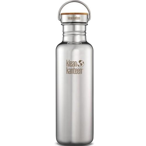 Klean Kanteen reflect Edelstahl Trinkflasche mit Bambus 500ml und 800ml BPA frei plastikfrei