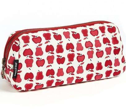 Keep Leaf Kosmetiktasche klein Toiletttasche Make up Tasche aus Bio Baumwolle Federtasche