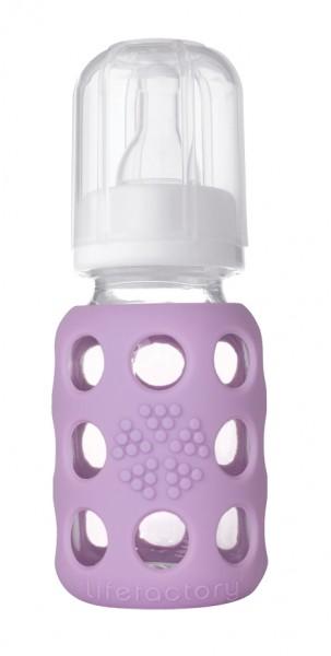 Lifefactory Babyflasche aus Glas 120 ml in tollen Farben