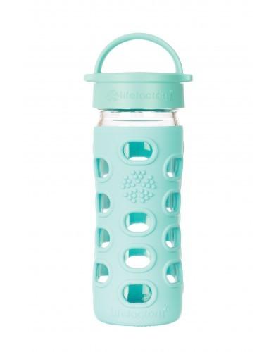 Lifefactory Trinkflasche aus Glas 350ml mit Classic Cap 12oz BPA frei
