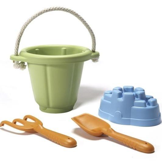 Greentoys Sand Spiel Set 4 Teile aus Milchverpackung Alter 18M+ Sandkasten Set BPA frei