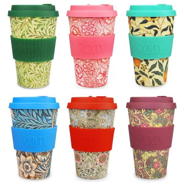 ecoffee cup to go Becher 400ml William Morris Gallery Kaffeebecher coffee to go