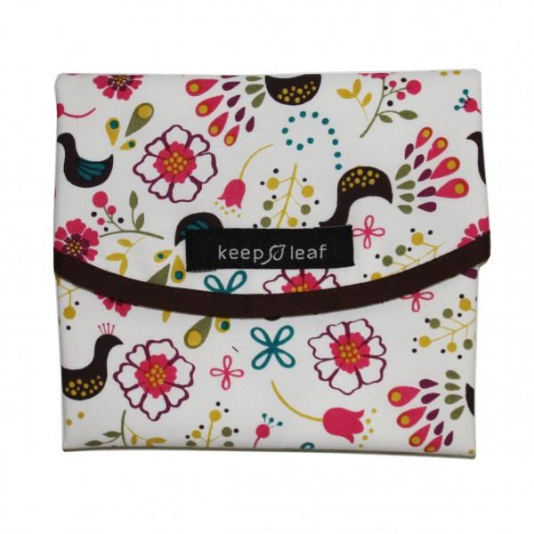 Keep Leaf Wrap Lunchwrap aus Bio Baumwolle waschbarer Brotfaltbeutel Tasche