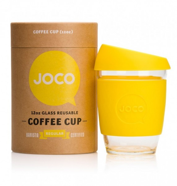 JOCO Cups Coffee to go Becher Kaffeebecher aus Glas 340ml