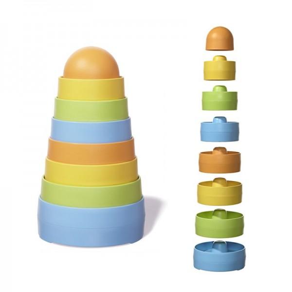 greentoys Stapelturm Spiel Set 8teilig aus Milchverpackung Alter 6M+ BPA frei