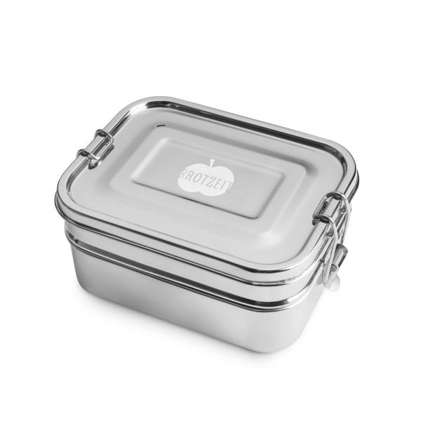 Brotzeit Doppeldecker Lunchbox Brotdose Jausenbox aus Edelstahl