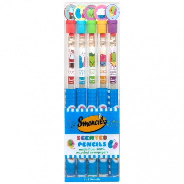 Smencils Duftstifte Bleistifte Stifte aus recyceltem Zeitungspapier 5er Set