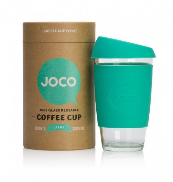 JOCO Cups Coffee to go Becher large Kaffeebecher aus Glas 470ml
