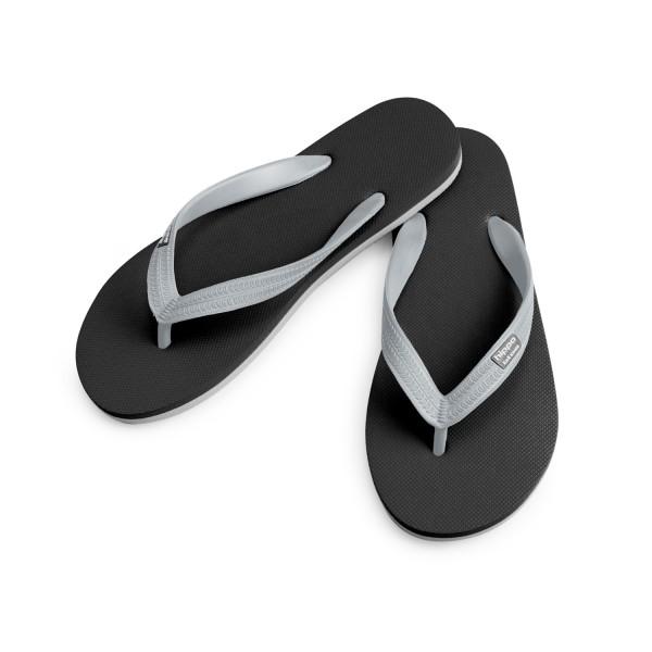 Hippobloo Flip Flop schwarz-grau aus Naturkautschuk BPAfrei vegan