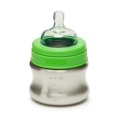 Klean Kanteen wide 148 ml Babyflasche aus Edelstahl - langsamer Trinkfluss BPA frei
