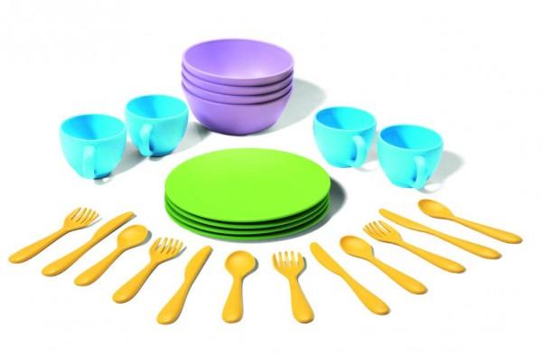 Greentoys Spiel Essgeschirr 24 Teile aus Milchverpackung Alter 2+
