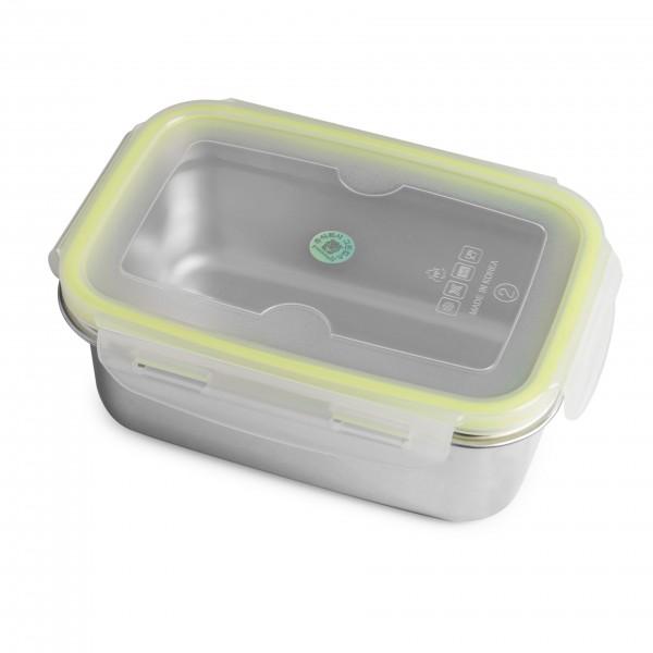 Brotzeit klick Brotdose Lunchbox aus Edelstahl 100% BPA frei dicht verschliessbar