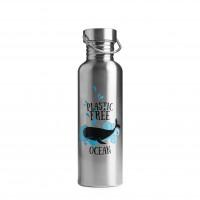 Brotzeit Trinkflasche Plastic free ocean aus Edelstahl plastikfrei 0,75l