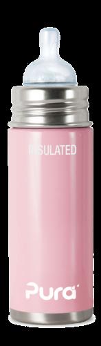 Pura Kiki 250ml isolierte Babyflasche Edelstahl BPA frei