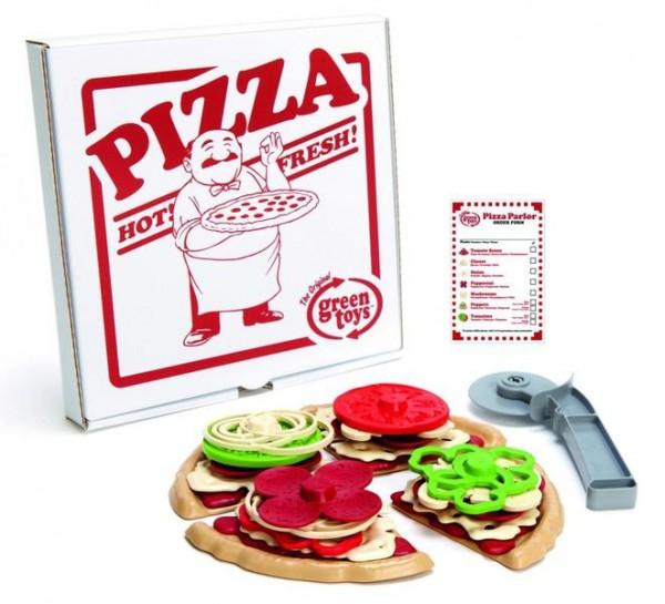 Greentoys PIZZA Spiel Set 27 teilig aus Milchverpackung hergestellt Alter 2+ BPA frei