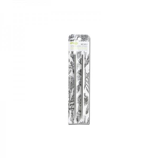 U Konserve Strohhalm aus Edelstahl 2er Set plastikfrei schadstofffreie Strohhalme