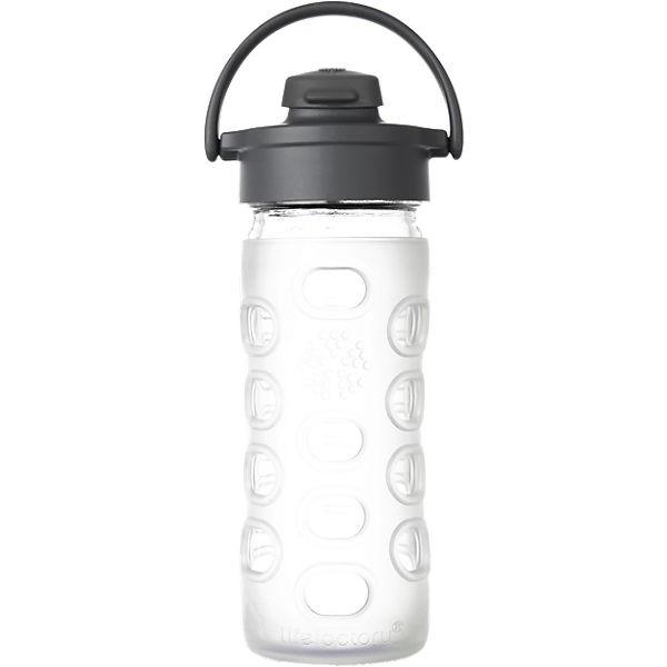 Lifefactory Trinkflasche aus Glas 350ml mit Sport Cap Flip Top Cap 12oz