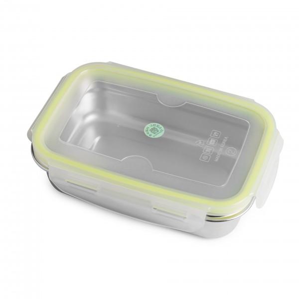 brotzeit klick brotdose lunchbox aus edelstahl 100 bpa frei dicht verschliessbar pure and green. Black Bedroom Furniture Sets. Home Design Ideas