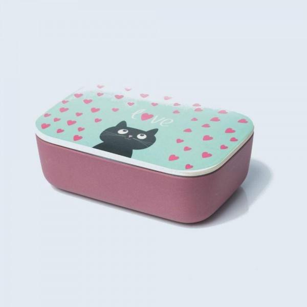 BambooCup Lunchbox Brotdose mit Gummiband BPA frei mit tollen Motiven