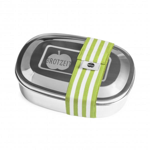 Brotzeit Lunchboxen duo Brotdose Jausenbox mit Unterteilung aus Edelstahl 100% BPA frei
