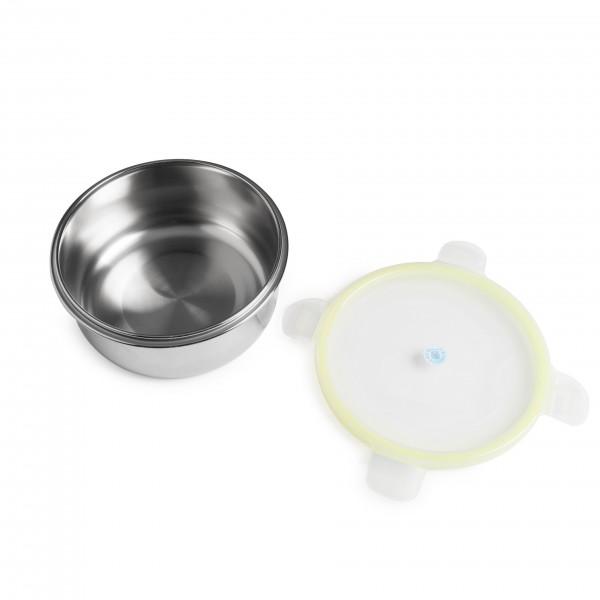 Brotzeit klick rund Brotdose Lunchbox aus Edelstahl 100% BPA frei dicht verschliessbar