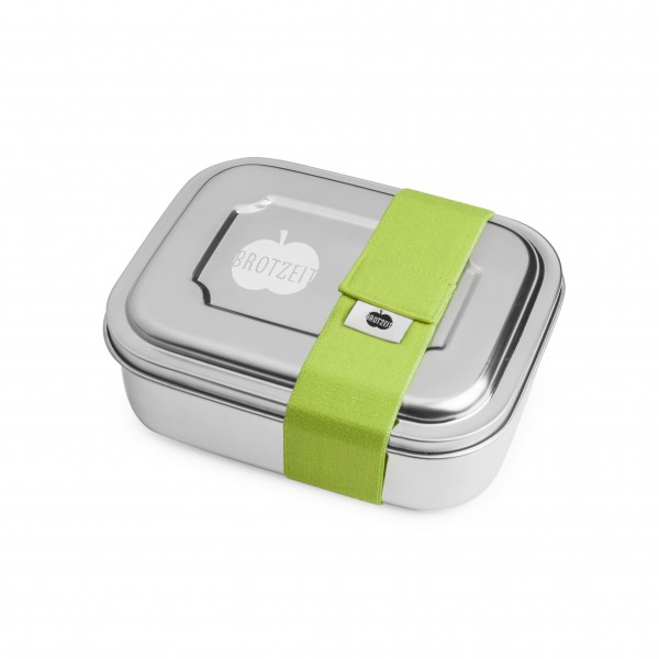 Brotzeit ZWEIER Lunchboxen Brotdose Jausenbox mit Unterteilung aus Edelstahl 100% BPA frei