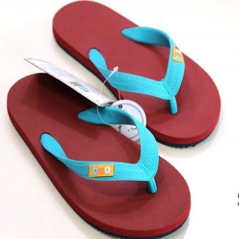 Hippobloo Flip Flop für Kinder burgund türkis aus Naturkautschuk BPAfrei vegan Hippo Bloo-