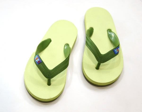 Hippobloo Flip Flop für Kinder hellgrün grün aus Naturkautschuk BPAfrei vegan Hippo Bloo