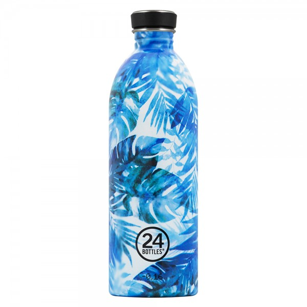 24bottles azure edelstahl trinkflasche 1l bpa frei floral. Black Bedroom Furniture Sets. Home Design Ideas