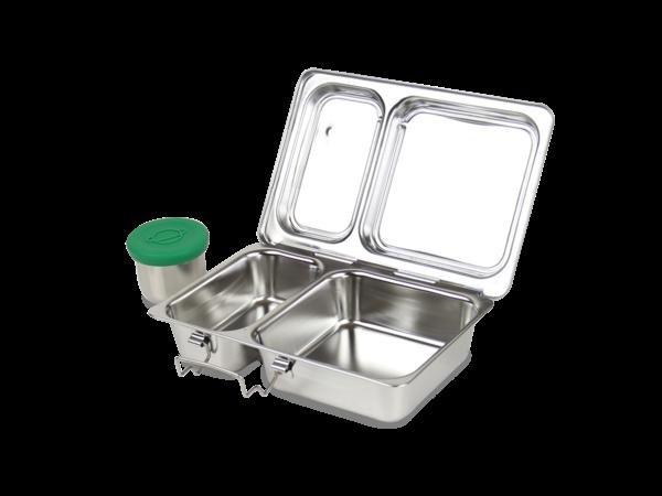 planetbox SHUTTLE Lunchbox aus Edelstahl mit Unterteilung