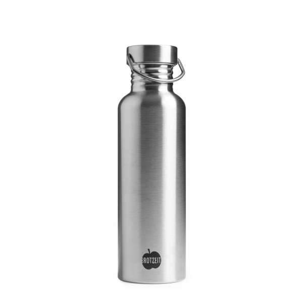 Brotzeit Trinkflasche aus Edelstahl plastikfrei 0,75l BPAfrei